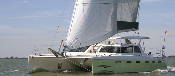 FASTCAT 445 GREEN eMOTION is sailing!